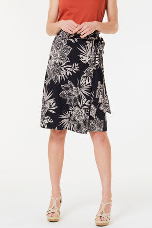 61c3106ae24 Floral Wrap Skirt