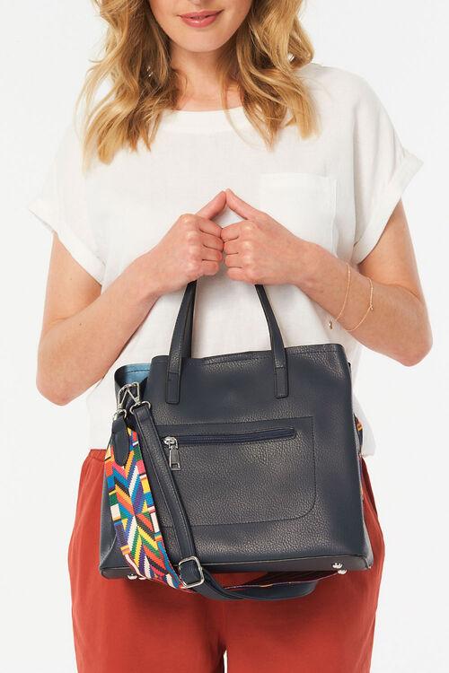Kris-Ana Zip Front Shoulder Bag with Purse