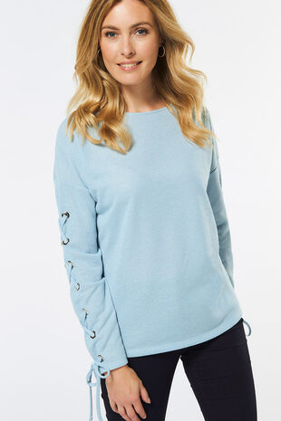 Lace up Detail T-Shirt