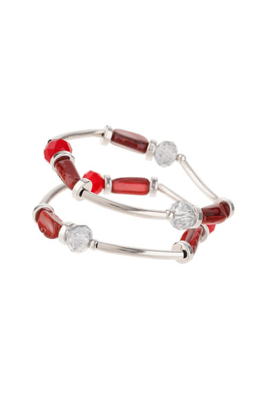 Muse Bead & Polished Two Pack Stretch Bracelets