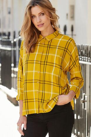 Mustard Check Shirt
