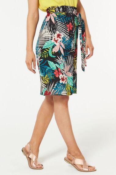 Tropical Leaf Wrap Skirt