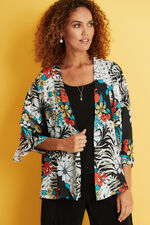 Floral Print 2 in 1 Cover Up with Necklace