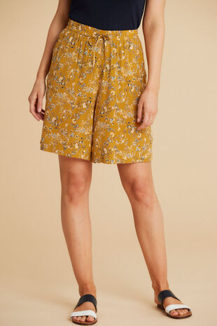 Salvari Pull On Flower Shorts
