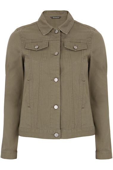 Khaki Denim Jacket
