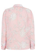 Passion Flower Long Sleeve Pleated Blouse