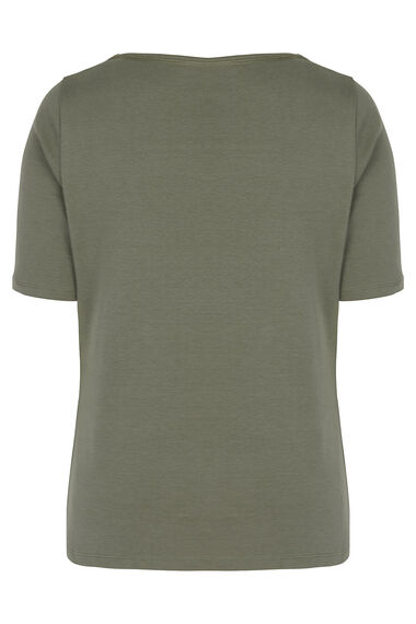 Half Sleeve Square Neck T-Shirt