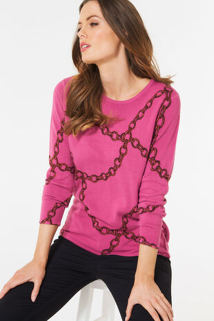 Supersoft Chain Print Jumper
