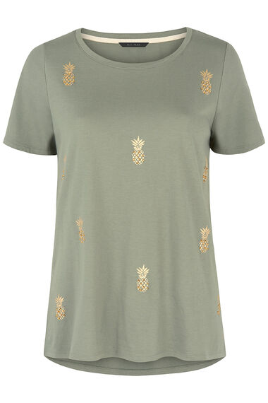 Pineapple Embellished T-Shirt