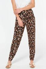 Animal Print Jersey Harem Trousers