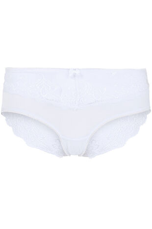 Lace Back High Leg Brief