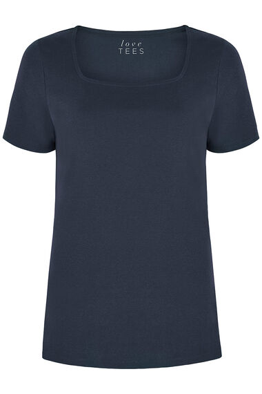 Square Neck Plain T-Shirt