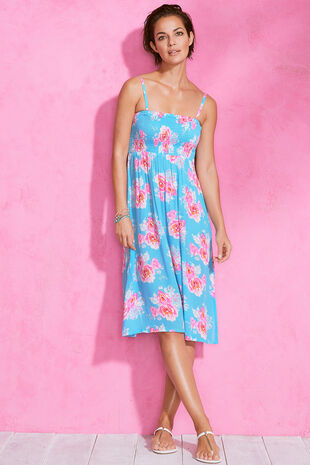 Large Floral Print Multiway Beach Dress