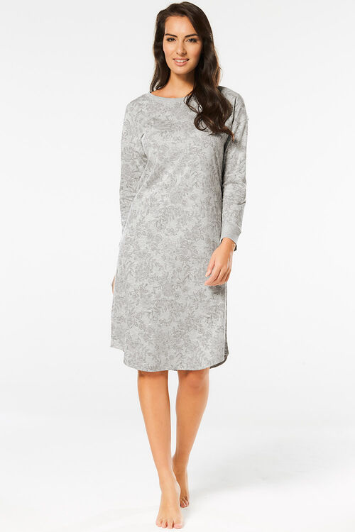Sketchy Floral Long Sleeve Nightdress