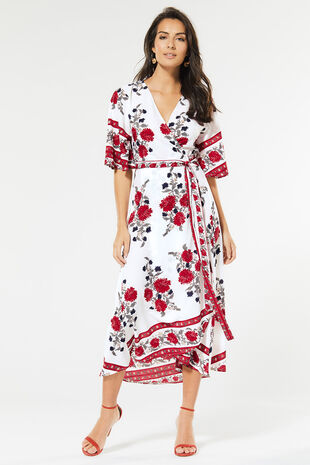 Izabel Wrap Midi Dress
