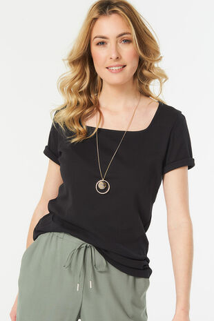 Square Neck Basic T-shirt