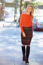 A Line Jacquard Skirt