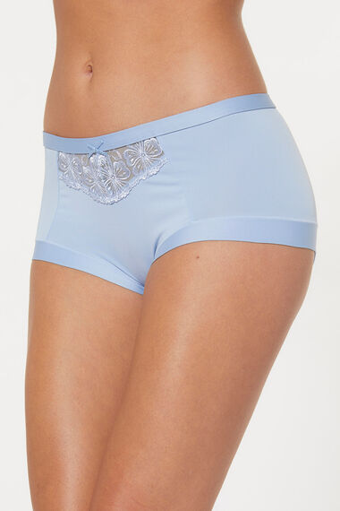 Floral Embroidered Briefs
