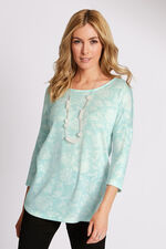 Trailing Lily Print Knitted Top