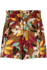Floral Print Linen Blend Short