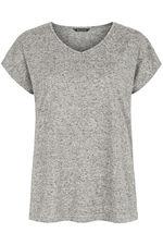 Stud Shoulder Marl T-Shirt