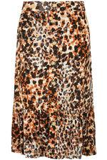 Leopard Crinkle Skirt