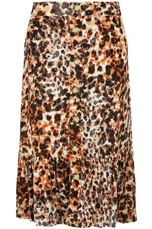 Leopard Crinkle Maxi Skirt
