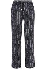 Printed Wide Leg Linen Blend Trouser