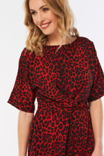 Animal Print Twist Front Dress