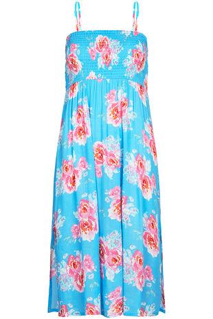 Large Floral Print Multiway Beach Dress