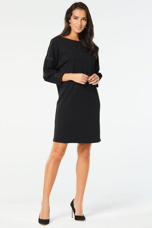 Contrast Stitching Tunic Dress