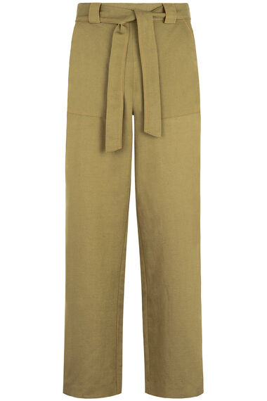 Grace By Eda High Waisted Linen Blend Trouser