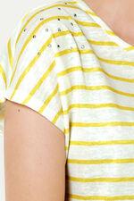 Metallic Stud Stripe T-Shirt