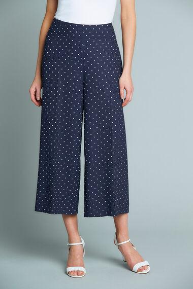 Polka Dot Wide Leg Culotte