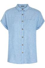 Short Sleeve Linen Blend Shirt