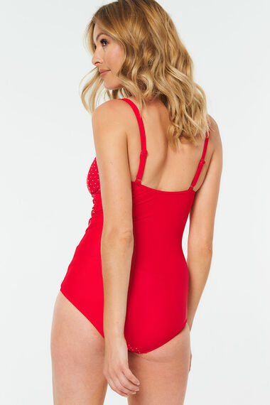 Pinspot Ruched Front Swimsuit