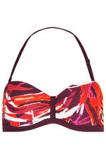 Tropical Tab Front Bikini Top With Detachable Straps