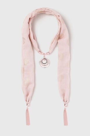 Muse Blush Pink Fabric Necklace