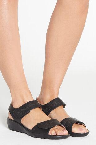 Cushion Walk Double Strap Touch Fasten Sandal