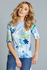 Short Sleeve Floral Print Jumper