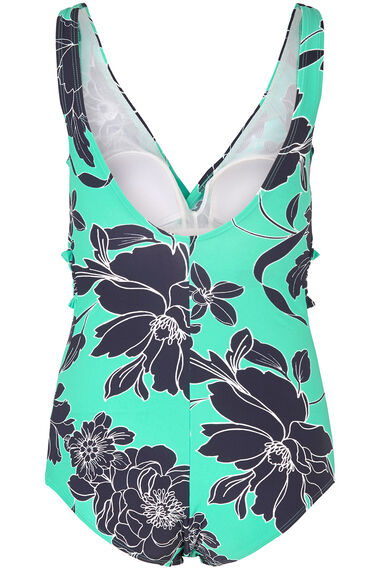 Floral Shirred Swimsuit