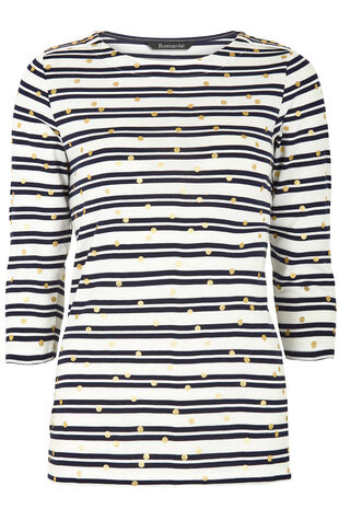 Stripe with Foil Spot T-Shirt