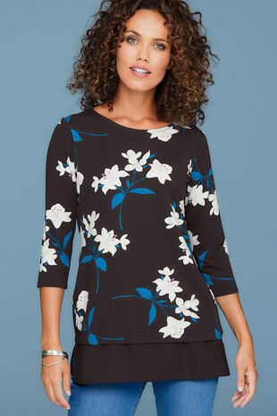Short Sleeve Floral Tunic