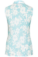 Floral Pleated Sleeveless Blouse