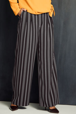 Wide Leg Stripe Trouser