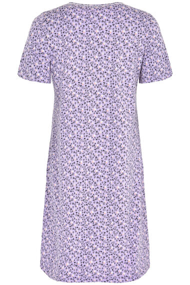 Lilac Heart Print Nightdress