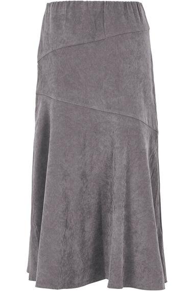 Faux Moleskin A Line Skirt