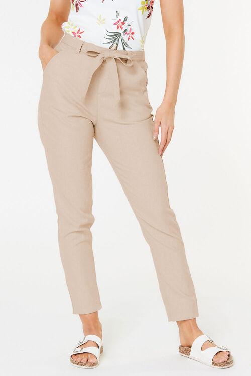 Tapered Linen Blend Trouser