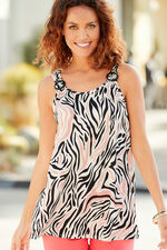 Animal Print Vest With Ring Detail