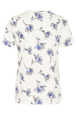 Printed Notch Neck T-Shirt